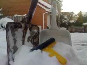 Shovel, dustpan, scraper