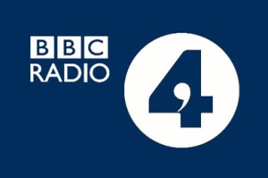 Blue and White Radio 4 logo